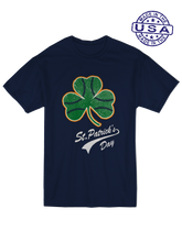 who's on first, baseball shamrock unisex t-shirt made in usa navy