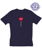 who's on first, shortstop unisex t-shirt made in usa navy