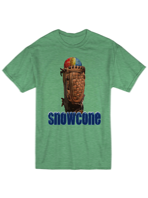 who's on first summer snowcone youth t-shirt green
