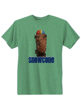 whos on first apparel snowcone tee in triblend green