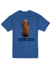 whos on first apparel snowcone tee in triblend royal