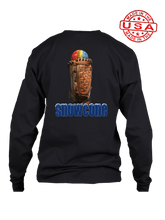 who's on first snowcone long sleeve shirt black