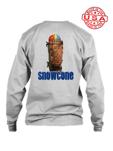 who's on first snowcone long sleeve shirt heather grey