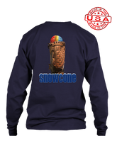 who's on first snowcone long sleeve shirt navy