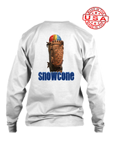 who's on first snowcone long sleeve shirt white
