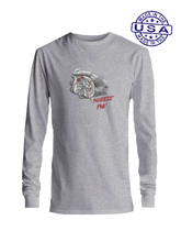 who's on first squeeze play made in usa long sleeve heather grey