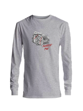 who's on first squeeze play youth long sleeve shirt ash grey