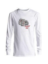 who's on first squeeze play youth long sleeve shirt white