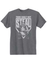 who's on first thou shalt not steal youth t-shirt heather