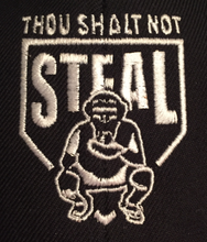 Thou Shalt Not Steal from Who's On First Apparel embroidery
