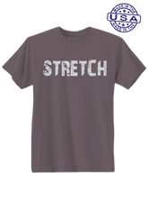 who's on first, stretch unisex t-shirt made in usa asphalt