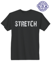 who's on first, stretch unisex t-shirt made in usa black