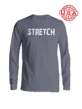 who's on first stretch long sleeve shirt asphalt