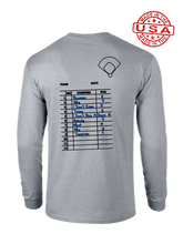 who's on first the lineup long sleeve shirt heather grey