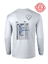 who's on first the lineup long sleeve shirt white