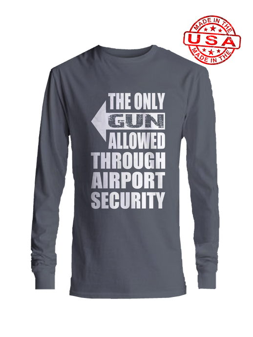 who's on first the only gun allowed righty long sleeve shirt asphalt