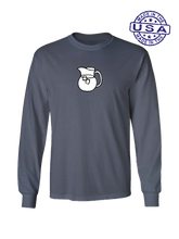 who's on first the pitcher long sleeve shirt asphalt