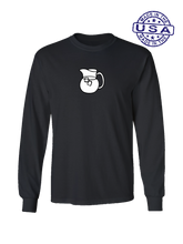 who's on first the pitcher long sleeve shirt black