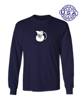 who's on first the pitcher long sleeve shirt navy