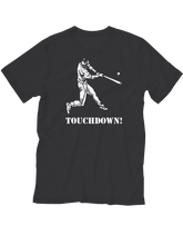 who's on first touchdown youth shirt black