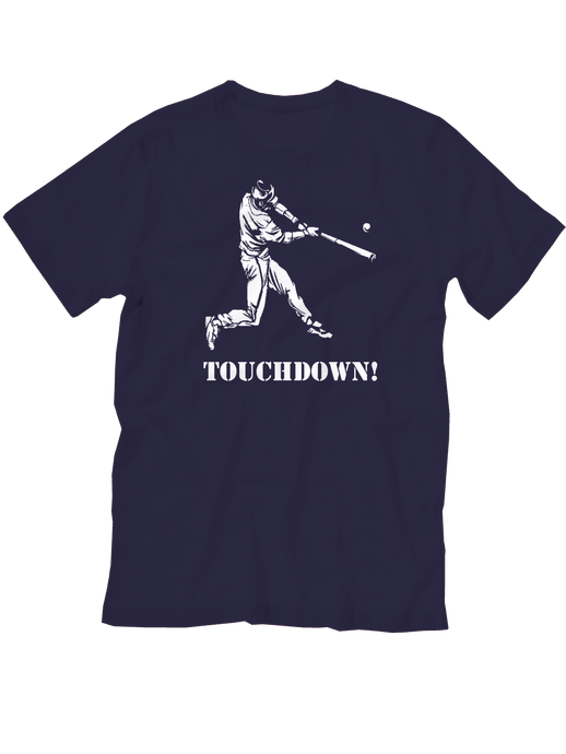 who's on first touchdown youth shirt navy
