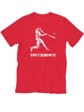 who's on first touchdown youth shirt red