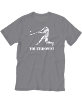 who's on first baseball youth touchdown t-shirt heather lefty