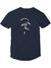 who's on first short sleeve tshirt who's up? navy