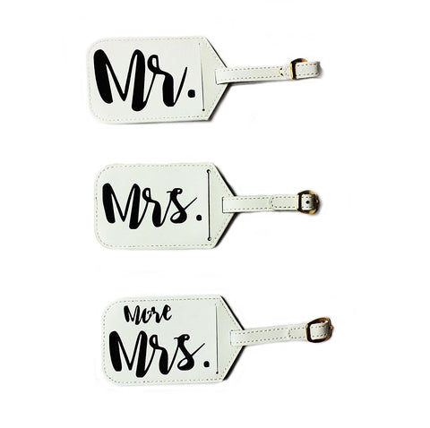 Mr & Mrs Luggage Tags - Dixie & Dot