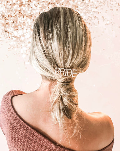 barrettes, barrette, bridal, bride, bling, pearls, dixie and dot, girlgang, bridal shower gift, bride, just married