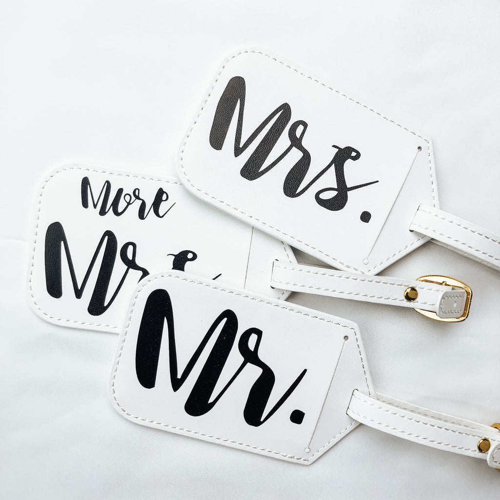 Mr & Mrs Luggage Tags (3-pack)