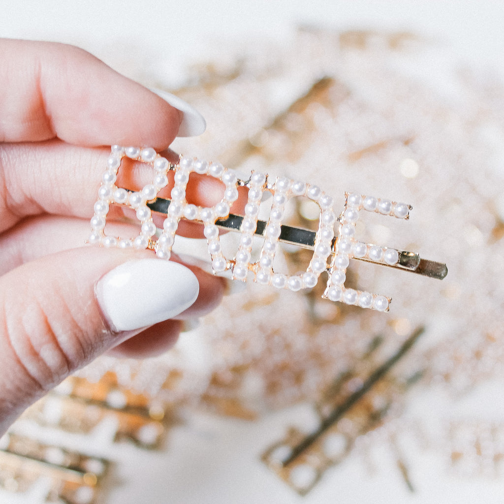 The Pearlfect BRIDE Barrette