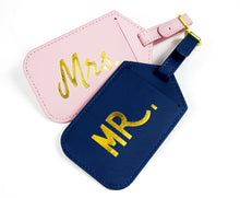 Mrs & Mr Jet-Setting Luggage Tags (2-pack)