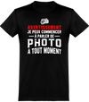 Avertissement Photo T-Shirt Unisexe