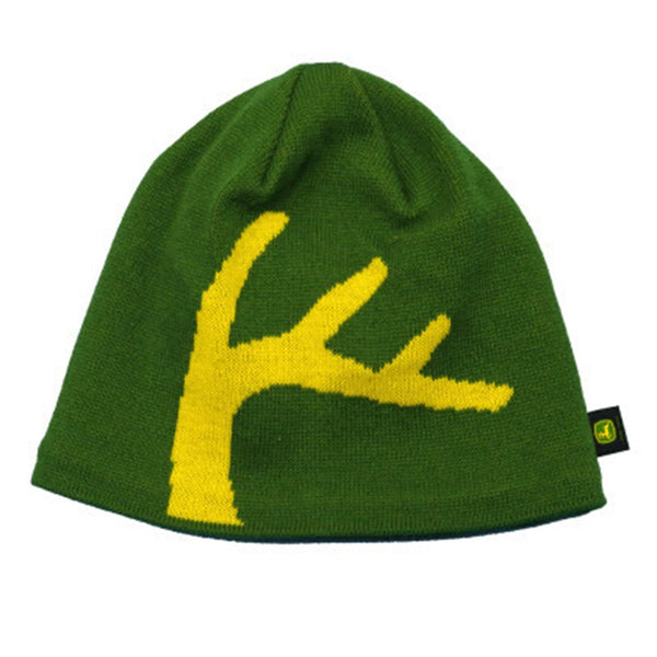 NEW John Deere Green Yellow Antler Beanie Stocking Cap, LP67780