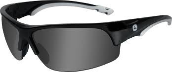 JOHN DEERE WILEY X TORQUE-X SAFETY SUNGLASSES GRAY BLACK LP51628