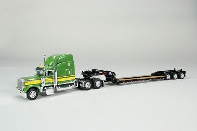 1/64 PETERBILT W/ LOWBOY DROP DECK TRAILER - GREEN LP53544
