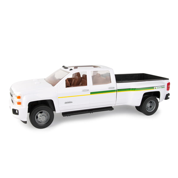1:16 BIG FARM JOHN DEERE CHEVROLET 3500 DEALERSHIP TRUCK