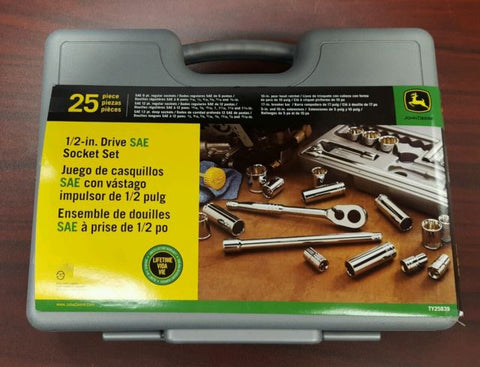 25PC SAE 1/2 DR SOCKET SET TY25839