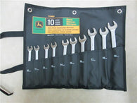 John Deere 10-Piece Metric Satin-Finish Combination Wrench Set - TY19922