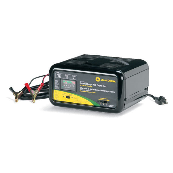 JOHN DEERE AUTOMATIC BATTERY CHARGER W/ ENGINE START - TY25865