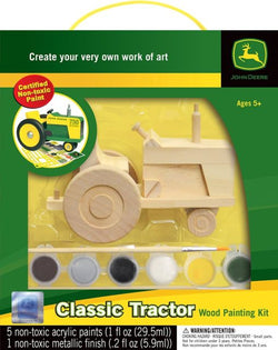 CLASSIC JOHN DEERE TRACTOR WOOD TOY PAINT KIT LP46422