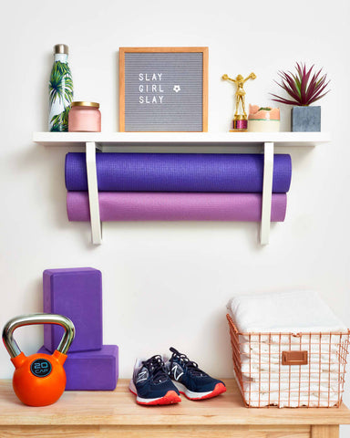 storage with shoes and frames