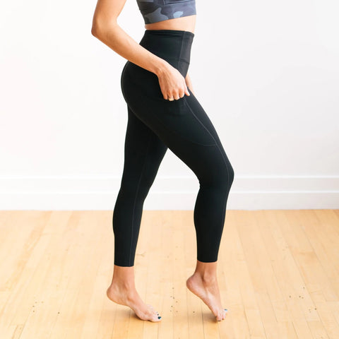 Focus Exercise Pants - Black | MT LUXE-Exercise Pant-Maven Thread