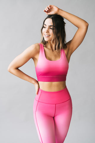 Fierce Bra - Pink Ombre | MT SPORT - Sports Bra - Maven Thread