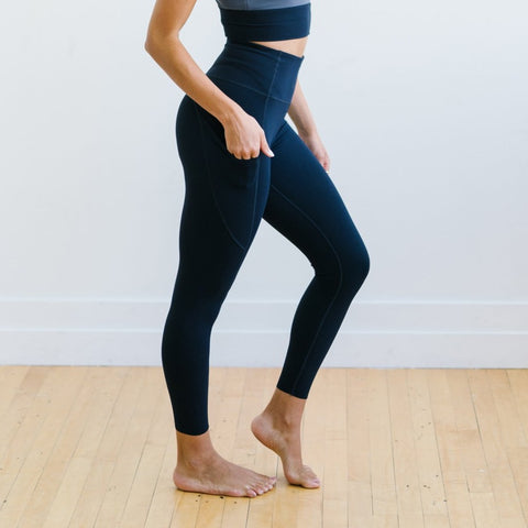 Focus Exercise Pants - Navy | MT LUXE