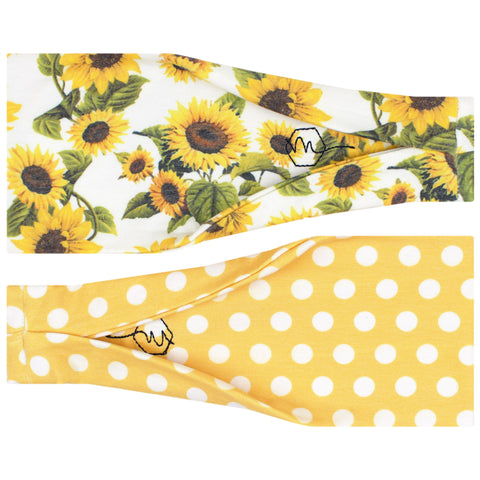 SUNFLOWER - 4'' Headband - Headbands - Maven Thread