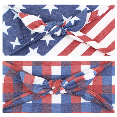 LIBERTY - 4'' Bow Headband - Headbands - Maven Thread