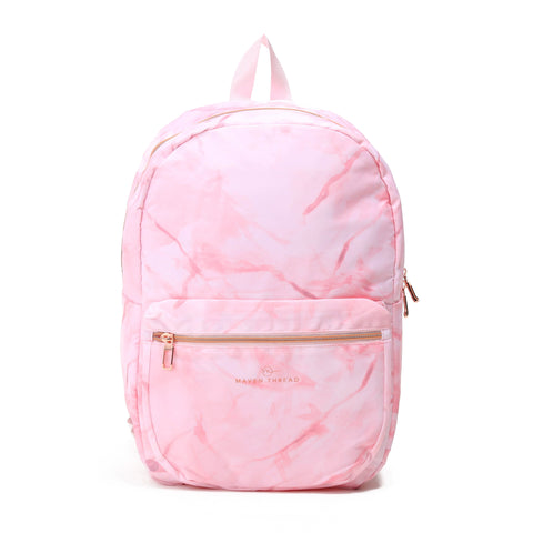 Classic Backpack - Pink Marble-Backpack-Maven Thread