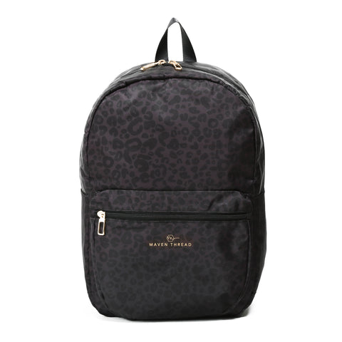 Classic Backpack - Grey Leopard-Backpack-Maven Thread